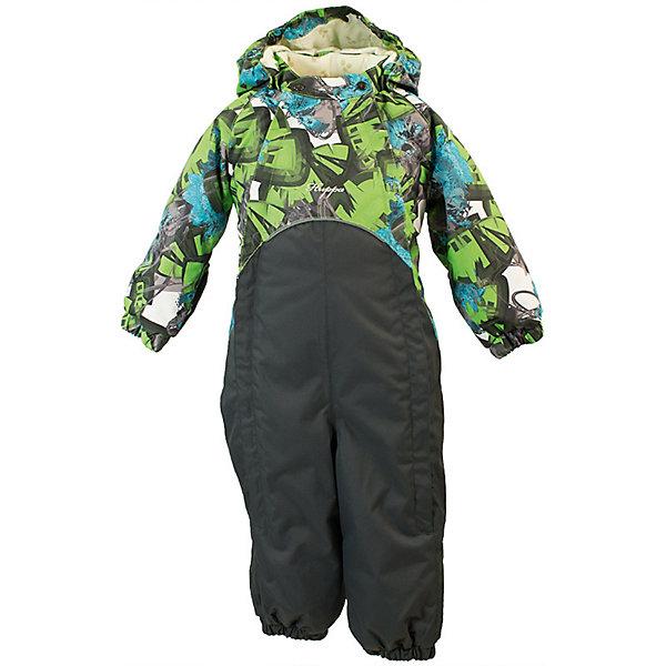 Комбинезон GOLDEN HuppaВерхняя одежда<br>Характеристики товара:<br><br>• цвет: зелёный принт/тёмно-серый; <br>• модель: Golden;<br>• состав: 100% полиэстер;<br>• подкладка: 100% хлопок, фланель;<br>• утеплитель: 100% полиэстер, 100 гр.;<br>• сезон: демисезон;<br>• температурный режим: от -5 до +10С;<br>• водонепроницаемость: 5000 мм ;<br>• воздухопроницаемость: 5000 г/м2/24ч;<br>• ветронепродуваемый;<br>• застежка: двойная молния и кнопки на воротнике;<br>• сидельный шов и боковые швы проклеены;<br>• съёмный капюшон на кнопках;<br>• эластичная резинка по кромке капюшона;<br>• манжеты рукавов на мягкой эластичной резинке;<br>• манжеты с отворотом у размеров 62-80;<br>• манжеты брюк на резинке;<br>• съемные эластичные штрипки;<br>• без внутренних швов;<br>• светоотражающие элементы;<br>• страна бренда: Эстония;<br>• страна изготовитель: Эстония.<br><br>Утепленный комбинезон сделан из материала, отталкивающего воду, дополнен подкладкой из тафты и утеплителем, поэтому изделие идеально подходит для межсезонья. Материал изделия - с мембранной технологией: защищает от влаги и ветра, ветронепродуваемый. Демисезонный комбинезон застёгивается на две молнии и кнопки на воротнике, манжеты у комбинезона с отворотами в размерах с 62 по 80. Комбинезон с отстёгивающимся капюшоном на кнопках, имеются съёмные эластичные штрипки.<br><br>Комбинезон GOLDEN от бренда Huppa (Хуппа) можно купить в нашем интернет-магазине.<br>Ширина мм: 356; Глубина мм: 10; Высота мм: 245; Вес г: 519; Цвет: зеленый; Возраст от месяцев: 12; Возраст до месяцев: 15; Пол: Унисекс; Возраст: Детский; Размер: 80,98,92,86; SKU: 7571221;