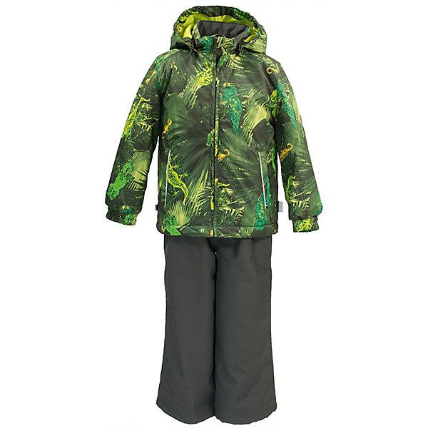 Комплект YOKO HuppaКомплекты<br>Характеристики товара:<br><br>• цвет: светло-зелёный принт/тёмно-серый; <br>• модель: Yoko;<br>• состав: 100% полиэстер;<br>• подкладка: 100% полиэстер, тафта;<br>• утеплитель: 100% полиэстер, куртка - 100 гр., полукомбинезон – 40 гр.;<br>• сезон: демисезон;<br>• температурный режим: от -5 до +10С;<br>• водонепроницаемость: куртка 5000, брюки 10000 мм ;<br>• воздухопроницаемость: куртка 5000, брюки 10000 г/м2/24ч;<br>• ветронепродуваемый;<br>• застежка: молния с защитой подбородка, полукомбинезон на молнии;<br>• сидельный шов проклеен;<br>• съёмный капюшон на кнопках;<br>• эластичная резинка по кромке капюшона;<br>• манжеты рукавов на мягкой эластичной резинке;<br>• регулируемый низ брючин;<br>• шнурок-утяжка со стопером по низу брючин;<br>• без внутренних швов;<br>• два прорезных кармана у куртки;<br>• полукомбинезон на мягких эластичных подтяжках;<br>• подтяжки не отстёгиваются;<br>• светоотражающие элементы;<br>• страна бренда: Эстония;<br>• страна изготовитель: Эстония.<br><br>Утепленный комплект сделан из материала, отталкивающего воду, дополнен подкладкой из тафты и утеплителем, поэтому изделие идеально подходит для межсезонья. Материал изделия - с мембранной технологией: защищает от влаги и ветра, ветронепродуваемый. Демисезонный комплект застёгивается на молнию, манжеты рукавов на мягкой эластичной резинке. Полукомбинезон с подтяжками и регулируемым низом штанин с утяжкой-стопером.<br><br>Комплект YOKO от бренда Huppa (Хуппа) можно купить в нашем интернет-магазине.<br>Ширина мм: 356; Глубина мм: 10; Высота мм: 245; Вес г: 519; Цвет: зеленый; Возраст от месяцев: 72; Возраст до месяцев: 84; Пол: Унисекс; Возраст: Детский; Размер: 122,92,116,110,104,98; SKU: 7571302;