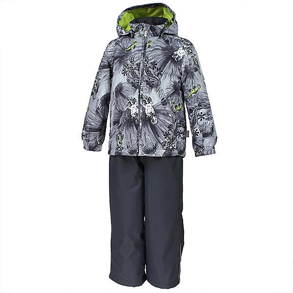 Комплект YOKO HuppaВерхняя одежда<br>Характеристики товара:<br><br>• цвет: серый принт/тёмно-серый; <br>• модель: Yoko 1;<br>• состав: 100% полиэстер;<br>• подкладка: 100% полиэстер, тафта;<br>• утеплитель: 100% полиэстер, куртка - 100 гр., полукомбинезон – 40 гр.;<br>• сезон: демисезон;<br>• температурный режим: от -5 до +10С;<br>• водонепроницаемость: куртка 5000, брюки 10000 мм ;<br>• воздухопроницаемость: куртка 5000, брюки 10000 г/м2/24ч;<br>• ветронепродуваемый;<br>• застежка: молния с защитой подбородка, брюки на молнии и пуговице;<br>• сидельный шов проклеен;<br>• съёмный капюшон на кнопках;<br>• эластичная резинка по кромке капюшона;<br>• манжеты рукавов на мягкой эластичной резинке;<br>• регулируемый низ брючин;<br>• шнурок-утяжка со стопером по низу брючин;<br>• два прорезных кармана у куртки;<br>• съёмный мягкие эластичные подтяжки;<br>• внутренние петли для подтяжек;<br>• светоотражающие элементы;<br>• страна бренда: Эстония;<br>• страна изготовитель: Эстония.<br><br>Утепленный комплект сделан из материала, отталкивающего воду, дополнен подкладкой из тафты и утеплителем, поэтому изделие идеально подходит для межсезонья. Материал изделия - с мембранной технологией: защищает от влаги и ветра, ветронепродуваемый. Демисезонный комплект застёгивается на молнию, манжеты рукавов на мягкой эластичной резинке. Брюки со съёмными подтяжками и регулируемым низом штанин с утяжкой-стопером.<br><br>Комплект YOKO 1 от бренда Huppa (Хуппа) можно купить в нашем интернет-магазине.<br>Ширина мм: 356; Глубина мм: 10; Высота мм: 245; Вес г: 519; Цвет: серый; Возраст от месяцев: 72; Возраст до месяцев: 84; Пол: Унисекс; Возраст: Детский; Размер: 122,146,140,134,128; SKU: 7571372;