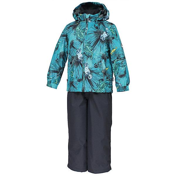 Комплект YOKO HuppaВерхняя одежда<br>Характеристики товара:<br><br>• цвет: тёмно-зелёный принт/тёмно-серый; <br>• модель: Yoko 1;<br>• состав: 100% полиэстер;<br>• подкладка: 100% полиэстер, тафта;<br>• утеплитель: 100% полиэстер, куртка - 100 гр., полукомбинезон – 40 гр.;<br>• сезон: демисезон;<br>• температурный режим: от -5 до +10С;<br>• водонепроницаемость: куртка 5000, брюки 10000 мм ;<br>• воздухопроницаемость: куртка 5000, брюки 10000 г/м2/24ч;<br>• ветронепродуваемый;<br>• застежка: молния с защитой подбородка, брюки на молнии и пуговице;<br>• сидельный шов проклеен;<br>• съёмный капюшон на кнопках;<br>• эластичная резинка по кромке капюшона;<br>• манжеты рукавов на мягкой эластичной резинке;<br>• регулируемый низ брючин;<br>• шнурок-утяжка со стопером по низу брючин;<br>• два прорезных кармана у куртки;<br>• съёмный мягкие эластичные подтяжки;<br>• внутренние петли для подтяжек;<br>• светоотражающие элементы;<br>• страна бренда: Эстония;<br>• страна изготовитель: Эстония.<br><br>Утепленный комплект сделан из материала, отталкивающего воду, дополнен подкладкой из тафты и утеплителем, поэтому изделие идеально подходит для межсезонья. Материал изделия - с мембранной технологией: защищает от влаги и ветра, ветронепродуваемый. Демисезонный комплект застёгивается на молнию, манжеты рукавов на мягкой эластичной резинке. Брюки со съёмными подтяжками и регулируемым низом штанин с утяжкой-стопером.<br><br>Комплект YOKO 1 от бренда Huppa (Хуппа) можно купить в нашем интернет-магазине.<br>Ширина мм: 356; Глубина мм: 10; Высота мм: 245; Вес г: 519; Цвет: бирюзовый; Возраст от месяцев: 84; Возраст до месяцев: 96; Пол: Унисекс; Возраст: Детский; Размер: 128,152,146,140,134; SKU: 7571378;