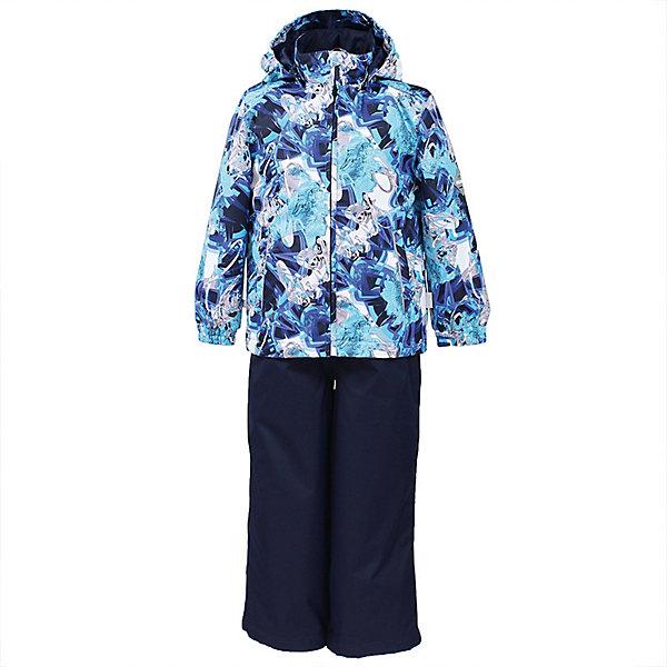 Комплект YOKO HuppaВерхняя одежда<br>Характеристики товара:<br><br>• цвет: синий принт/тёмно-синий; <br>• модель: Yoko 1;<br>• состав: 100% полиэстер;<br>• подкладка: 100% полиэстер, тафта;<br>• утеплитель: 100% полиэстер, куртка - 100 гр., полукомбинезон – 40 гр.;<br>• сезон: демисезон;<br>• температурный режим: от -5 до +10С;<br>• водонепроницаемость: куртка 5000, брюки 10000 мм ;<br>• воздухопроницаемость: куртка 5000, брюки 10000 г/м2/24ч;<br>• ветронепродуваемый;<br>• застежка: молния с защитой подбородка, брюки на молнии и пуговице;<br>• сидельный шов проклеен;<br>• съёмный капюшон на кнопках;<br>• эластичная резинка по кромке капюшона;<br>• манжеты рукавов на мягкой эластичной резинке;<br>• регулируемый низ брючин;<br>• шнурок-утяжка со стопером по низу брючин;<br>• два прорезных кармана у куртки;<br>• съёмный мягкие эластичные подтяжки;<br>• внутренние петли для подтяжек;<br>• светоотражающие элементы;<br>• страна бренда: Эстония;<br>• страна изготовитель: Эстония.<br><br>Утепленный комплект сделан из материала, отталкивающего воду, дополнен подкладкой из тафты и утеплителем, поэтому изделие идеально подходит для межсезонья. Материал изделия - с мембранной технологией: защищает от влаги и ветра, ветронепродуваемый. Демисезонный комплект застёгивается на молнию, манжеты рукавов на мягкой эластичной резинке. Брюки со съёмными подтяжками и регулируемым низом штанин с утяжкой-стопером.<br><br>Комплект YOKO 1 от бренда Huppa (Хуппа) можно купить в нашем интернет-магазине.<br>Ширина мм: 356; Глубина мм: 10; Высота мм: 245; Вес г: 519; Цвет: темно-синий; Возраст от месяцев: 84; Возраст до месяцев: 96; Пол: Унисекс; Возраст: Детский; Размер: 128,152,146,140,134; SKU: 7571402;