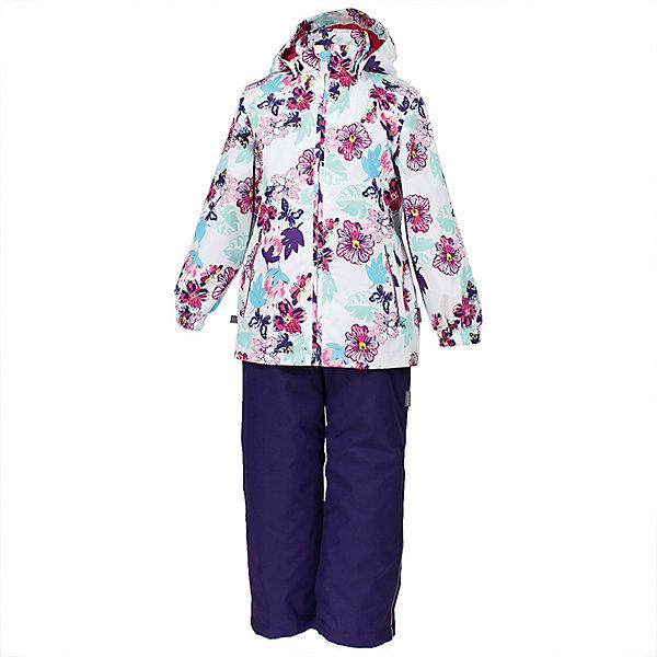 Комплект YONNE Huppa для девочекВерхняя одежда<br>Характеристики товара:<br><br>• цвет: белый принт/тёмно-фиолетовый; <br>• модель: Yonne;<br>• состав: 100% полиэстер;<br>• подкладка: 100% полиэстер, тафта;<br>• утеплитель: 100% полиэстер, куртка - 100 гр., полукомбинезон – 40 гр.;<br>• сезон: демисезон;<br>• температурный режим: от -5 до +10С;<br>• водонепроницаемость: куртка 5000, брюки 10000 мм ;<br>• воздухопроницаемость: куртка 5000, брюки 10000 г/м2/24ч;<br>• ветронепродуваемый;<br>• застежка: молния с защитой подбородка, брюки на молнии и пуговице;<br>• сидельный шов проклеен;<br>• съёмный капюшон на кнопках;<br>• эластичная резинка по кромке капюшона;<br>• манжеты рукавов на мягкой эластичной резинке;<br>• регулируемый низ брючин;<br>• шнурок-утяжка со стопером по низу брючин;<br>• два прорезных кармана у куртки;<br>• брюки на съёмных эластичных подтяжках;<br>• внутренние петли для подтяжек;<br>• светоотражающие элементы;<br>• страна бренда: Эстония;<br>• страна изготовитель: Эстония.<br><br>Утепленный комплект сделан из материала, отталкивающего воду, дополнен подкладкой из тафты и утеплителем, поэтому изделие идеально подходит для межсезонья. Материал изделия - с мембранной технологией: защищает от влаги и ветра, ветронепродуваемый. Демисезонный комплект застёгивается на молнию, манжеты рукавов на мягкой эластичной резинке. Брюки со съёмными подтяжками и регулируемым низом штанин с утяжкой-стопером.<br><br>Комплект YONNE 1 от бренда Huppa (Хуппа) можно купить в нашем интернет-магазине.<br>Ширина мм: 356; Глубина мм: 10; Высота мм: 245; Вес г: 519; Цвет: белый; Возраст от месяцев: 84; Возраст до месяцев: 96; Пол: Женский; Возраст: Детский; Размер: 128,152,146,140,134; SKU: 7571482;