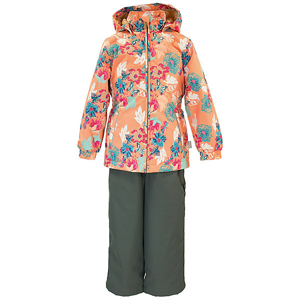 Комплект YONNE Huppa для девочекВерхняя одежда<br>Характеристики товара:<br><br>• цвет: коралловый принт/фуксия; <br>• модель: Yonne;<br>• состав: 100% полиэстер;<br>• подкладка: 100% полиэстер, тафта;<br>• утеплитель: 100% полиэстер, куртка - 100 гр., полукомбинезон – 40 гр.;<br>• сезон: демисезон;<br>• температурный режим: от -5 до +10С;<br>• водонепроницаемость: куртка 5000, брюки 10000 мм ;<br>• воздухопроницаемость: куртка 5000, брюки 10000 г/м2/24ч;<br>• ветронепродуваемый;<br>• застежка: молния с защитой подбородка, брюки на молнии и пуговице;<br>• сидельный шов проклеен;<br>• съёмный капюшон на кнопках;<br>• эластичная резинка по кромке капюшона;<br>• манжеты рукавов на мягкой эластичной резинке;<br>• регулируемый низ брючин;<br>• шнурок-утяжка со стопером по низу брючин;<br>• два прорезных кармана у куртки;<br>• брюки на съёмных эластичных подтяжках;<br>• внутренние петли для подтяжек;<br>• светоотражающие элементы;<br>• страна бренда: Эстония;<br>• страна изготовитель: Эстония.<br><br>Утепленный комплект сделан из материала, отталкивающего воду, дополнен подкладкой из тафты и утеплителем, поэтому изделие идеально подходит для межсезонья. Материал изделия - с мембранной технологией: защищает от влаги и ветра, ветронепродуваемый. Демисезонный комплект застёгивается на молнию, манжеты рукавов на мягкой эластичной резинке. Брюки со съёмными подтяжками и регулируемым низом штанин с утяжкой-стопером.<br><br>Комплект YONNE 1 от бренда Huppa (Хуппа) можно купить в нашем интернет-магазине.<br>Ширина мм: 356; Глубина мм: 10; Высота мм: 245; Вес г: 519; Цвет: коралловый; Возраст от месяцев: 132; Возраст до месяцев: 144; Пол: Женский; Возраст: Детский; Размер: 152,128,146,140,134; SKU: 7571488;