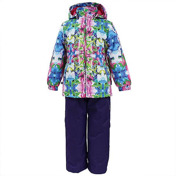 Комплект YONNE Huppa для девочекВерхняя одежда<br>Характеристики товара:<br><br>• цвет: лиловый принт/фуксия; <br>• модель: Yonne;<br>• состав: 100% полиэстер;<br>• подкладка: 100% полиэстер, тафта;<br>• утеплитель: 100% полиэстер, куртка - 100 гр., полукомбинезон – 40 гр.;<br>• сезон: демисезон;<br>• температурный режим: от -5 до +10С;<br>• водонепроницаемость: куртка 5000, брюки 10000 мм ;<br>• воздухопроницаемость: куртка 5000, брюки 10000 г/м2/24ч;<br>• ветронепродуваемый;<br>• застежка: молния с защитой подбородка, брюки на молнии и пуговице;<br>• сидельный шов проклеен;<br>• съёмный капюшон на кнопках;<br>• эластичная резинка по кромке капюшона;<br>• манжеты рукавов на мягкой эластичной резинке;<br>• регулируемый низ брючин;<br>• шнурок-утяжка со стопером по низу брючин;<br>• два прорезных кармана у куртки;<br>• брюки на съёмных эластичных подтяжках;<br>• внутренние петли для подтяжек;<br>• светоотражающие элементы;<br>• страна бренда: Эстония;<br>• страна изготовитель: Эстония.<br><br>Утепленный комплект сделан из материала, отталкивающего воду, дополнен подкладкой из тафты и утеплителем, поэтому изделие идеально подходит для межсезонья. Материал изделия - с мембранной технологией: защищает от влаги и ветра, ветронепродуваемый. Демисезонный комплект застёгивается на молнию, манжеты рукавов на мягкой эластичной резинке. Брюки со съёмными подтяжками и регулируемым низом штанин с утяжкой-стопером.<br><br>Комплект YONNE 1 от бренда Huppa (Хуппа) можно купить в нашем интернет-магазине.<br>Ширина мм: 356; Глубина мм: 10; Высота мм: 245; Вес г: 519; Цвет: лиловый; Возраст от месяцев: 84; Возраст до месяцев: 96; Пол: Женский; Возраст: Детский; Размер: 128,152,146,140,134; SKU: 7571506;