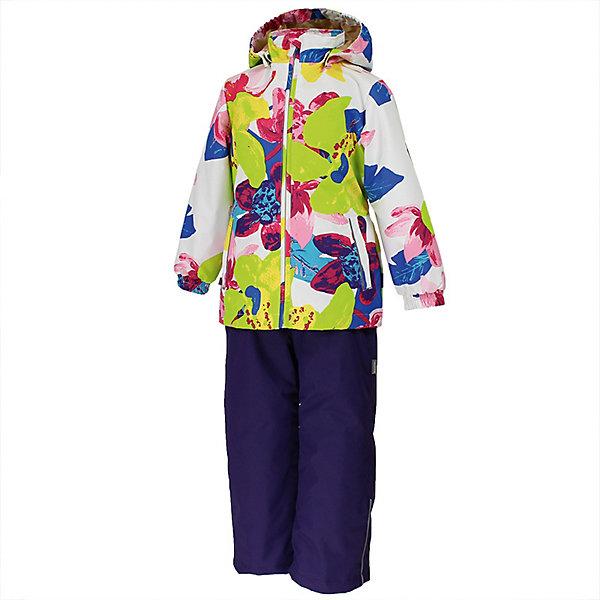 Комплект YONNE Huppa для девочекВерхняя одежда<br>Характеристики товара:<br><br>• цвет: белый принт/тёмно-фиолетовый; <br>• модель: Yonne;<br>• состав: 100% полиэстер;<br>• подкладка: 100% полиэстер, тафта;<br>• утеплитель: 100% полиэстер, куртка - 100 гр., полукомбинезон – 40 гр.;<br>• сезон: демисезон;<br>• температурный режим: от -5 до +10С;<br>• водонепроницаемость: куртка 5000, брюки 10000 мм ;<br>• воздухопроницаемость: куртка 5000, брюки 10000 г/м2/24ч;<br>• ветронепродуваемый;<br>• застежка: молния с защитой подбородка, брюки на молнии и пуговице;<br>• сидельный шов проклеен;<br>• съёмный капюшон на кнопках;<br>• эластичная резинка по кромке капюшона;<br>• манжеты рукавов на мягкой эластичной резинке;<br>• регулируемый низ брючин;<br>• шнурок-утяжка со стопером по низу брючин;<br>• два прорезных кармана у куртки;<br>• брюки на съёмных эластичных подтяжках;<br>• внутренние петли для подтяжек;<br>• светоотражающие элементы;<br>• страна бренда: Эстония;<br>• страна изготовитель: Эстония.<br><br>Утепленный комплект сделан из материала, отталкивающего воду, дополнен подкладкой из тафты и утеплителем, поэтому изделие идеально подходит для межсезонья. Материал изделия - с мембранной технологией: защищает от влаги и ветра, ветронепродуваемый. Демисезонный комплект застёгивается на молнию, манжеты рукавов на мягкой эластичной резинке. Брюки со съёмными подтяжками и регулируемым низом штанин с утяжкой-стопером.<br><br>Комплект YONNE 1 от бренда Huppa (Хуппа) можно купить в нашем интернет-магазине.<br>Ширина мм: 356; Глубина мм: 10; Высота мм: 245; Вес г: 519; Цвет: белый; Возраст от месяцев: 84; Возраст до месяцев: 96; Пол: Женский; Возраст: Детский; Размер: 128,152,146,140,134; SKU: 7571518;