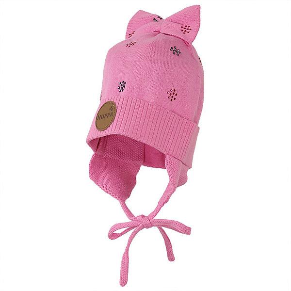 Шапка BECCA HuppaГоловные уборы<br>Характеристики товара:<br><br>• цвет: розовый; <br>• модель: Becca;<br>• состав: 50% хлопок, 50% акрил;<br>• без дополнительного утепления;<br>• сезон: демисезон;<br>• температурный режим: от -5 до +10С;<br>• особенности: вязаная;<br>• шапка на завязках;<br>• декорирована рисунком и бантом;<br>• светоотражающие элементы;<br>• страна бренда: Эстония;<br>• страна изготовитель: Эстония.<br><br>Вязаная шапка из хлопка и акрила, декорирована мелким рисунком и бантиком на макушке. Шапка на завязках дополнена светоотражающей эмблемой.<br><br>Шапку BECCA от бренда Huppa (Хуппа) можно купить в нашем интернет-магазине.<br>Ширина мм: 89; Глубина мм: 117; Высота мм: 44; Вес г: 155; Цвет: розовый; Возраст от месяцев: 24; Возраст до месяцев: 72; Пол: Женский; Возраст: Детский; Размер: 51-53,43-45,47-49; SKU: 7571625;