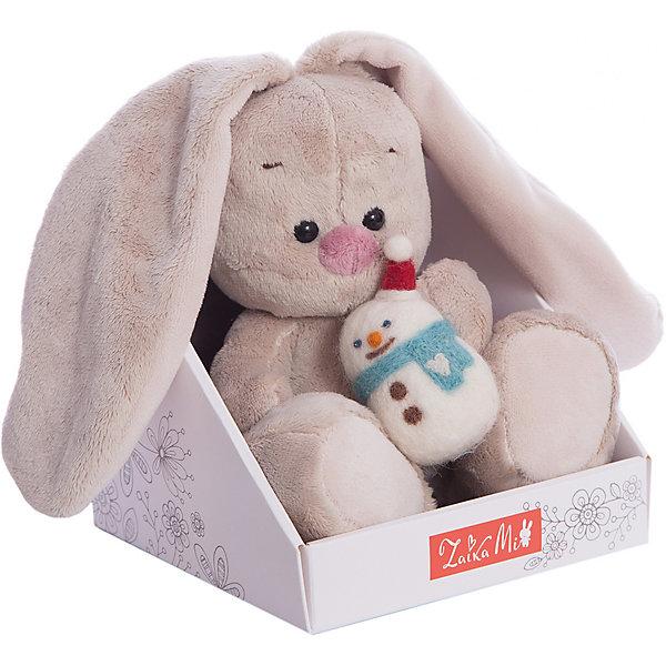 Зайка Ми Budi Basa, со снеговичком (малыш)Мягкие игрушки животные<br>Характеристики:<br><br>• мягкая игрушка зайчик со снеговичком;<br>• приятная на ощупь, мягкая, теплая;<br>• нежный материал плюш;<br>• наполнитель синтепон;<br>• бровки и носик – аппликация;<br>• глазки зайчика пластиковые;<br>• у снеговичка всё выполнено из мягких материалов;<br>• высота игрушки: 15 см.<br><br>Мягкие игрушки имеют особое значение в жизни малыша. Пушистого друга можно взять с собой в кровать, на улицу или в поликлинику. Мягкий теплый зверек порадует кроху, поднимет настроение и подбодрит. <br><br>Зайка Ми Budi Basa, со снеговичком (малыш) можно купить в нашем интернет-магазине.<br>Ширина мм: 135; Глубина мм: 135; Высота мм: 130; Вес г: 210; Возраст от месяцев: 36; Возраст до месяцев: 2147483647; Пол: Унисекс; Возраст: Детский; SKU: 7572386;
