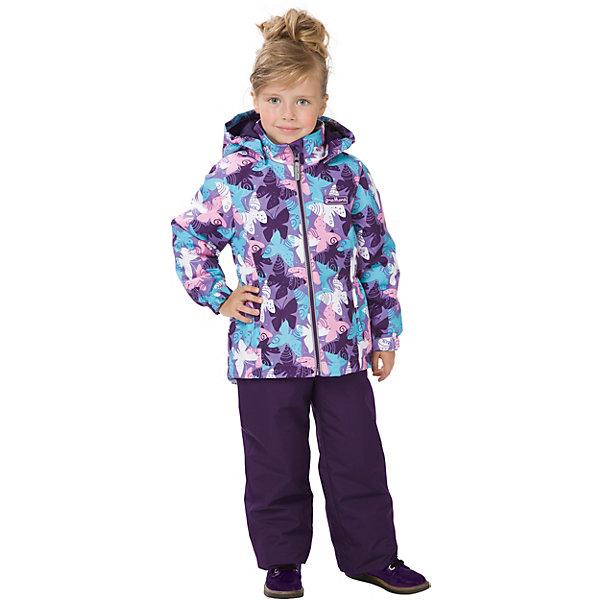Комплект: куртка и брюки Premont для девочкиВерхняя одежда<br>Характеристики товара:<br><br>• цвет: фиолетовый;<br>• состав ткани: мембрана, Pongee;<br>• подкладка: taffeta (рукава и тело куртки, брючины), трикотаж с ворсом (капюшон, внутренняя часть воротника, карманы, отделка внутренней планки);<br>• утеплитель: Tech-Polyfill 100 г/м? (куртка),80 г/м? (п/комбинезон, брюки);<br>• сезон:демисезон;<br>• температурный режим: от -5 до +10;<br>• водонепроницаемость: 3000 мм ;<br>• паропроницаемость: 3000 г/м2/24ч;<br>• застежка: молния YKK;<br>• съёмный капюшон на молнии;<br>• защита подбородка;<br>• внутренняя ветрозащитная планка;<br>• утяжка капюшона;<br>• эластичные манжеты на рукавах с доп. регулировкой (липучка);<br>• два кармана;<br>• внутренняя этикетка с местом для имени;<br>• светоотражающие элементы (шнур, нашивки);<br>• светоотражающие пуллеры с логотипом;<br>• эластичная резинка по талии;<br>• внутренний нагрудный карман на липучке;<br>• два кармана на липучках на полукомбинезоне/брюках;<br>• внутреняя защитная эластичная гетра на полукомбинезоне/брюках;<br>• регулировка длины брючин;<br>• эластичные лямки с регулировкой длины;<br>• п/комбинезон с высокой грудкой с 2 до 6, брюки со съемными лямками с 7 до 14;<br>• внутренняя этикетка с местом для имени (дополнительно и на полукомбенизоне/брюках);<br>• эластичная резинка на талии полукомбенизона/брюк; <br>• съемные силиконовые штрипки;<br>• светоотражающие элементы (вшивная деталь, принт).<br>• страна бренда: Канада;<br>• страна изготовитель: Китай<br><br>Демисезонный комплект из куртки и полукомбенизона/брюк для девочки «Симфония Онтарио» - универсальный вариант и для прохладной осени, и для первых заморозков. Эта модель - модная и удобная одновременно! Куртка отличается стильным ярким дизайном с изображением разноцветных бабочек. Комплект хорошо сидит по фигуре, отлично сочетается с различной обувью. <br><br>Одежда от канадского бренда Premont создается из качественных и безопасных для детей материалы. Мис