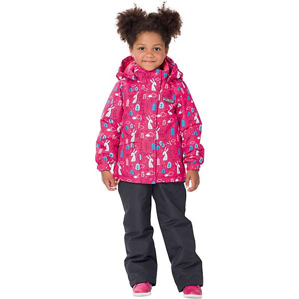 Комплект: куртка и брюки Premont для девочкиВерхняя одежда<br>Характеристики товара:<br><br>• цвет: розовый/серый;<br>• состав ткани: мембрана, Pongee;<br>• подкладка: taffeta (рукава и тело куртки, брючины), трикотаж с ворсом (капюшон, внутренняя часть воротника, карманы, отделка внутренней планки);<br>• утеплитель: Tech-Polyfill 100 г/м? (куртка),80 г/м? (п/комбинезон, брюки);<br>• сезон: демисезон;<br>• температурный режим: от -5 до +10;<br>• водонепроницаемость: 3000 мм ;<br>• паропроницаемость: 3000 г/м2/24ч;<br>• застежка: молния YKK;<br>• съёмный капюшон на молнии;<br>• защита подбородка;<br>• внутренняя ветрозащитная планка;<br>• утяжка капюшона;<br>• эластичные манжеты на рукавах с доп. регулировкой (липучка);<br>• два кармана;<br>• внутренняя этикетка с местом для имени;<br>• светоотражающие элементы (шнур, нашивки);<br>• светоотражающие пуллеры с логотипом;<br>• эластичная резинка по талии;<br>• внутренний нагрудный карман на липучке;<br>• два кармана на липучках на полукомбинезоне/брюках;<br>• внутреняя защитная эластичная гетра на полукомбинезоне/брюках;<br>• регулировка длины брючин;<br>• эластичные лямки с регулировкой длины;<br>• п/комбинезон с высокой грудкой с 2 до 6, брюки со съемными лямками с 7 до 14;<br>• внутренняя этикетка с местом для имени;<br>• эластичная резинка на талии; <br>• съемные силиконовые штрипки;<br>• светоотражающие элементы (вшивная деталь, принт).<br>• страна бренда: Канада;<br>• страна изготовитель: Китай<br><br>Демисезонный комплект из куртки и полукомбинезона/брюк для девочки «Прогулка в Минору» - универсальный вариант и для прохладной осени, и для первых заморозков. Эта модель - модная и удобная одновременно! Куртка отличается стильным ярким дизайном с изображением белых зайчиков. Комплект хорошо сидит по фигуре, отлично сочетается с различной обувью. <br><br>Одежда от канадского бренда Premont создается из качественных и безопасных для детей материалы. Миссия компании - изменить к лучшему повседневную жизнь родителей и д