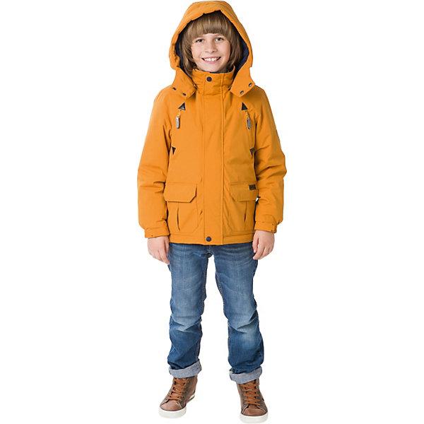 Парка Premont для мальчикаВерхняя одежда<br>Характеристики товара:<br><br>• цвет: горчичный;<br>• состав ткани: мембрана, Pongee с эффектом бархатистой поверхности (peach skin);<br>• подкладка: taffeta (рукава, тело), трикотаж с ворсом (капюшон, внутренняя часть воротника, карманы, отделка внутренней планки);<br>• утеплитель: Tech-Polyfill 100 г/м? ;<br>• сезон: демисезон;<br>• температурный режим: от -5 до +10;<br>• водонепроницаемость: 3000 мм; <br>• паропроницаемость: 3000 г/м2/24ч;<br>• застежка: молния YKK;<br>• съёмный капюшон на молнии;<br>• защита подбородка;<br>• утяжка капюшона;<br>• внешняя ветрозащитная планка на липучках;<br>• эластичные манжеты на рукавах с доп. регулировкой (липучка);<br>• дополнительная утяжка по талии и по низу изделия;<br>• два кармана на липучках;<br>• внутренняя этикетка с местом для имени;<br>• капюшон застегивается на две кнопки на подбородке;<br>• светоотражающие элементы (шнур , нашивки);<br>• светоотражающие пуллеры с логотипом;<br>• внутренний нагрудный карман на липучке;<br>• декоративный принт на спинке;<br>• страна бренда: Канада;<br>• страна изготовитель: Китай<br><br>Куртка-парка для мальчика «Неуловимый Сейбл» из коллекции Premont Весна 2018 стильного горчичного цвета сделана специально для активных и модных мальчиков. Носить эту модель можно как в садик, так и в школу, а также она отлично подойдет для активных прогулок. Состав ткани способствует водонепроницаемости и отводу влаги изнутри, <br>обработана грязеотталкивающей пропиткой.<br><br>Отличительной особенностью данной модели является пропитка Peach skin - придает материалу бархатистую, персиковую фактурность. На ощупь материал более приятный и мягкий к телу, выглядит матовым, без глянцевого блеска. <br><br>Куртку-парку для мальчика «Неуловимый Сейбл» от Premont (Премонт) можно купить в нашем интернет-магазине.<br>Ширина мм: 356; Глубина мм: 10; Высота мм: 245; Вес г: 519; Цвет: желтый; Возраст от месяцев: 48; Возраст до месяцев: 60; Пол: Мужской; Возраст: Детски