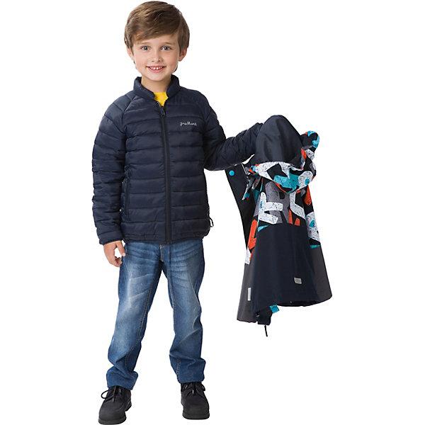 Куртка Premont для мальчикаВерхняя одежда<br>Характеристики товара:<br><br>• цвет: серый;<br>• состав ткани: мембрана, Pongee; внутреняя куртка - мягкий полиэстер;<br>• подкладка: тафетта;  внутреняя куртка - мягкий полиэстер;<br>• утеплитель внутренней куртки: Fake down (искуственный пух) 180 г.;<br>• сезон: демисезон;<br>• температурный режим: от -5 до +10;<br>• водонепроницаемость: 3000 мм; <br>• паропроницаемость: 3000 г/м2/24ч;<br>• застежка: молния YKK;<br>• съёмный капюшон на молнии;<br>• защита подбородка;<br>• внешняя ветрозащитная планка на липучках;<br>• дополнительная утяжка капюшона;<br>• эластичные манжеты на рукавах с доп. регулировкой (липучка);<br>• два кармана на липучках;<br>• два кармана на молнии (внутренняя куртка);<br>• внутренняя этикетка с местом для имени ( и на внутренней куртке);<br>• светоотражающие элементы (шнур , нашивки, принт на внутренней куртке);<br>• светоотражающие пуллеры с логотипом;<br>• внутренний нагрудный карман на липучке;<br>• дополнительная утяжка по низу изделия;<br>• внутренняя куртка пристегивается к нижней с помощью<br>хлястиков на кнопках;<br>• страна бренда: Канада;<br>• страна изготовитель: Китай<br><br>Демисезонная куртка 3 в 1  для мальчика «Краски Сент-Джонс» из коллекции Premont Весна 2018 выполнена в практичном сером цвете с добавлением яркого принта. Состоит сразу из двух изделий, которые можно носить вместе от – 5 градусов мороза. Верхнюю часть можно использовать в качестве ветровки, а нижнюю – в качестве утепленной куртки в прохладные дни. <br><br>Кроме этого, покрытие предусматривает мембрану, которая отвечает за водонепроницаемость и поддержание отличной вентиляции. Этот вариант мальчик может носить с брюками, джинсами, утепленным полукомбинезоном. И при любой погоде ребенку будет комфортно и тепло!<br><br>Демисезонную куртку 3 в 1  для мальчика «Краски Сент-Джонс» от Premont (Премонт) можно купить в нашем интернет-магазине.<br>Ширина мм: 356; Глубина мм: 10; Высота мм: 245; Вес г: 519; Цвет: серый; Воз