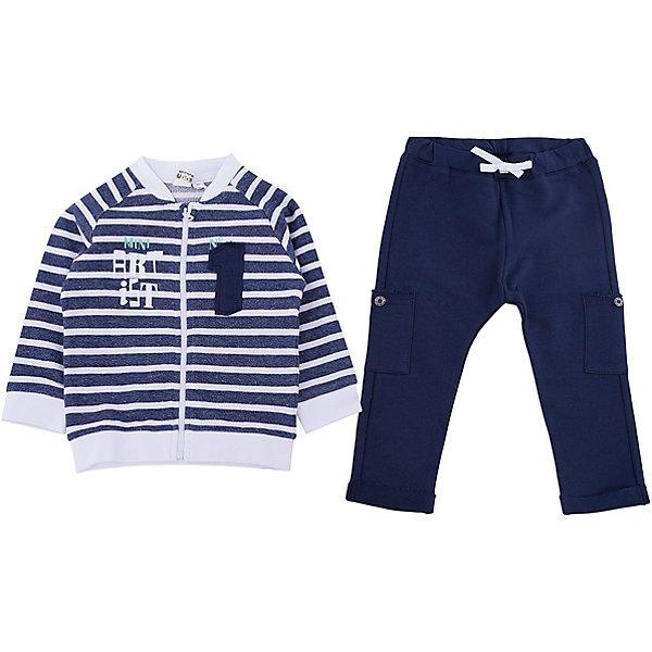 Спортивный костюм iDO для мальчикаКомплекты<br>Спортивный костюм iDO для мальчика<br>Костюм на молнии из 100% хлопка. <br><br>Состав: <br>100% хлопок<br>Ширина мм: 247; Глубина мм: 16; Высота мм: 140; Вес г: 225; Цвет: голубой; Возраст от месяцев: 3; Возраст до месяцев: 6; Пол: Мужской; Возраст: Детский; Размер: 68,86,80,74; SKU: 7587727;