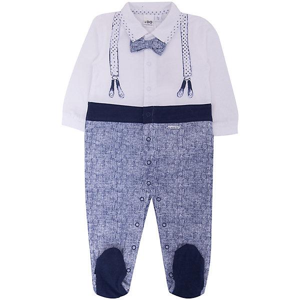 Комбинезон iDO для мальчикаКомбинезоны<br>Характеристики товара:<br><br>• цвет: голубой<br>• состав ткани: 100% хлопок<br>• сезон: круглый год<br>• застежка: кнопки<br>• длинные рукава<br>• страна бренда: Италия<br><br>Оригинальный детский комбинезон - от итальянского бренда iDO, известного качественной и стильной одеждой для детей. Детский комбинезон декорирован интересным принтом. Комбинезон для мальчика сделан из гипоаллергенного натурального хлопка.<br><br>Комбинезон iDO (АйДу) для мальчика можно купить в нашем интернет-магазине.<br>Ширина мм: 356; Глубина мм: 10; Высота мм: 245; Вес г: 519; Цвет: голубой; Возраст от месяцев: 6; Возраст до месяцев: 9; Пол: Мужской; Возраст: Детский; Размер: 74,68,62,80; SKU: 7587751;