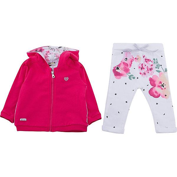 Спортивный костюм iDO для девочкиКомплекты<br>Характеристики товара:<br><br>• цвет: малиновый<br>• комплектация: толстовка, брюки<br>• состав ткани: 100% хлопок<br>• сезон: демисезон<br>• особенности модели: спортивный стиль<br>• застежка: молния<br>• пояс: резинка, шнурок<br>• длинные рукава<br>• страна бренда: Италия<br><br>Яркий спортивный костюм для девочки сделан из мягкого дышащего натурального хлопка. Детский спортивный костюм состоит из толстовки и брюк. Этот спортивный костюм для ребенка разработан специалистами популярного бренда iDO, который выпускает модные и комфортные вещи для детей. <br><br>Спортивный костюм iDO (АйДу) для девочки можно купить в нашем интернет-магазине.<br>Ширина мм: 247; Глубина мм: 16; Высота мм: 140; Вес г: 225; Цвет: оранжевый; Возраст от месяцев: 3; Возраст до месяцев: 6; Пол: Женский; Возраст: Детский; Размер: 68,86,80,74; SKU: 7587805;