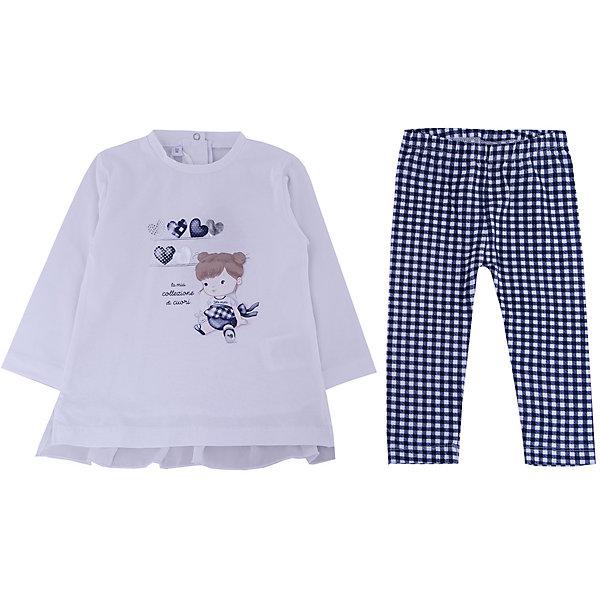 Комплект: футболка с длинным рукавом, леггинсы iDO для девочкиКомплекты<br>Комплект: футболка с длинным рукавом, леггинсы iDO для девочки<br>Очень удобный и комфортный костюм из хлопка состоит из кофточки и леггинсов. Сзади застежка на кнопках.<br><br>Состав: <br>95% хлопок 5% др.вол.<br>Ширина мм: 230; Глубина мм: 40; Высота мм: 220; Вес г: 250; Цвет: голубой; Возраст от месяцев: 3; Возраст до месяцев: 6; Пол: Женский; Возраст: Детский; Размер: 68,86,80,74; SKU: 7587880;