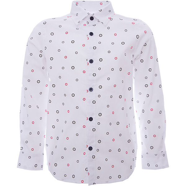 Рубашка iDO для мальчикаОдежда<br>Рубашка iDO для мальчика<br>Классная вещь для парня! Симпатичная рубашка с принтом в виде пуговичек, в комплекте идет платок из той же ткани для украшения пиджака.<br><br>Состав: <br>69% хлопок 27% акрил 4% др.вол.<br>Ширина мм: 174; Глубина мм: 10; Высота мм: 169; Вес г: 157; Цвет: белый; Возраст от месяцев: 18; Возраст до месяцев: 24; Пол: Мужской; Возраст: Детский; Размер: 92,122,116,110,104,98; SKU: 7587966;