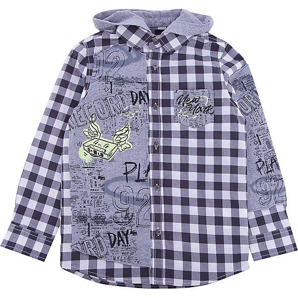 Рубашка iDO для мальчикаБлузки и рубашки<br>Рубашка iDO для мальчика<br>Модная рубашка в клетку из хлопка. Трикотажный капюшон можно отстегнуть. <br><br>Состав: <br>100% хлопок<br>Ширина мм: 199; Глубина мм: 10; Высота мм: 161; Вес г: 151; Цвет: черный; Возраст от месяцев: 72; Возраст до месяцев: 84; Пол: Мужской; Возраст: Детский; Размер: 122,98,116,110,104; SKU: 7587973;