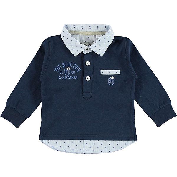 Футболка-поло с длинным рукавом iDO для мальчикаБлузки и рубашки<br>Характеристики товара:<br><br>• цвет: синий<br>• состав ткани: 100% хлопок<br>• сезон: демисезон<br>• особенности модели: эффект многослойности<br>• застежка: пуговицы<br>• длинные рукава<br>• страна бренда: Италия<br>• стиль и качество iDO<br><br>Хлопковая детская футболка-поло отличается оригинальной конструкцией - она создает эффект многослойности. Эта футболка-поло для ребенка - от известного итальянского бренда iDO, который известен высоким качеством и европейским стилем выпускаемой одежды для детей. Футболка-поло для мальчика поможет создать удобный и модный наряд.<br><br>Футболку-поло iDO (АйДу) для мальчика можно купить в нашем интернет-магазине.<br>Ширина мм: 199; Глубина мм: 10; Высота мм: 161; Вес г: 151; Цвет: темно-синий; Возраст от месяцев: 24; Возраст до месяцев: 36; Пол: Мужской; Возраст: Детский; Размер: 98,122,116,110,104; SKU: 7587996;