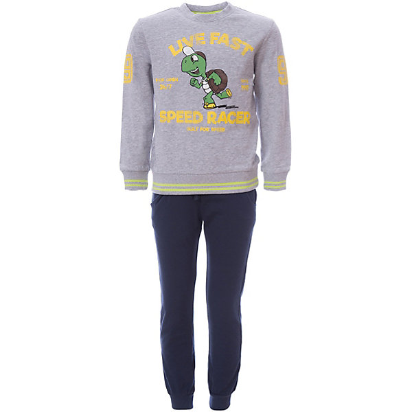 Спортивный костюм iDO для мальчикаСпортивная одежда<br>Характеристики товара:<br><br>• цвет: серый<br>• комплектация: толстовка, брюки<br>• состав ткани: 100% хлопок<br>• сезон: демисезон<br>• особенности модели: спортивный стиль<br>• застежка: кнопки<br>• пояс: резинка, шнурок<br>• длинные рукава<br>• страна бренда: Италия<br><br>Практичный спортивный костюм для мальчика сделан из мягкого дышащего натурального хлопка. Детский спортивный костюм состоит из толстовки и брюк. Этот спортивный костюм для ребенка разработан специалистами популярного бренда iDO, который выпускает модные и комфортные вещи для детей. <br><br>Спортивный костюм iDO (АйДу) для мальчика можно купить в нашем интернет-магазине.<br>Ширина мм: 247; Глубина мм: 16; Высота мм: 140; Вес г: 225; Цвет: серый; Возраст от месяцев: 18; Возраст до месяцев: 24; Пол: Мужской; Возраст: Детский; Размер: 92,110,122,116,104,98; SKU: 7588240;