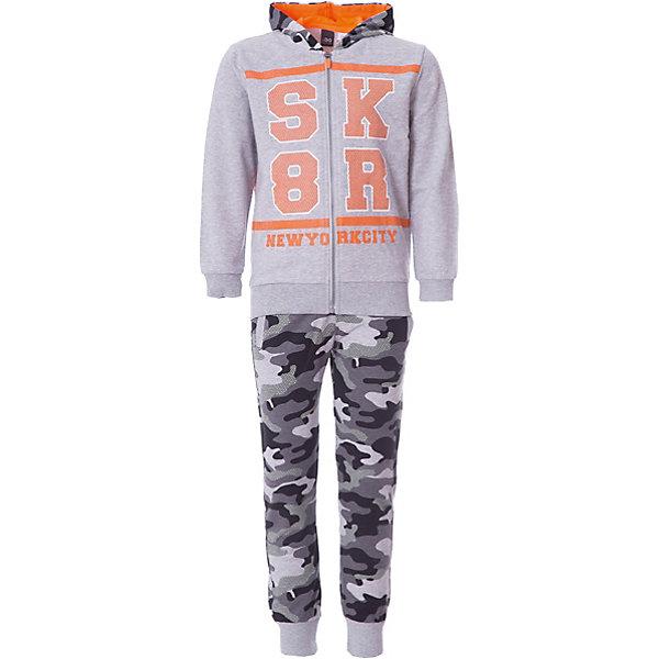 Спортивный костюм iDO для мальчикаКомплекты<br>Характеристики товара:<br><br>• цвет: серый<br>• комплектация: толстовка, брюки<br>• состав ткани: 100% хлопок<br>• сезон: демисезон<br>• особенности модели: спортивный стиль, с капюшоном<br>• застежка: молния<br>• пояс: резинка<br>• длинные рукава<br>• страна бренда: Италия<br><br>Стильный детский спортивный костюм от известного бренда iDO из Италии обеспечит ребенку комфорт. Спортивный костюм для ребенка - это толстовка и брюки. Спортивный костюм для мальчика сшит из мягкого натурального хлопкового материала, который отлично подходит детям.<br><br>Спортивный костюм iDO (АйДу) для мальчика можно купить в нашем интернет-магазине.<br>Ширина мм: 247; Глубина мм: 16; Высота мм: 140; Вес г: 225; Цвет: серый; Возраст от месяцев: 18; Возраст до месяцев: 24; Пол: Мужской; Возраст: Детский; Размер: 92,122,116,110,104,98; SKU: 7588274;