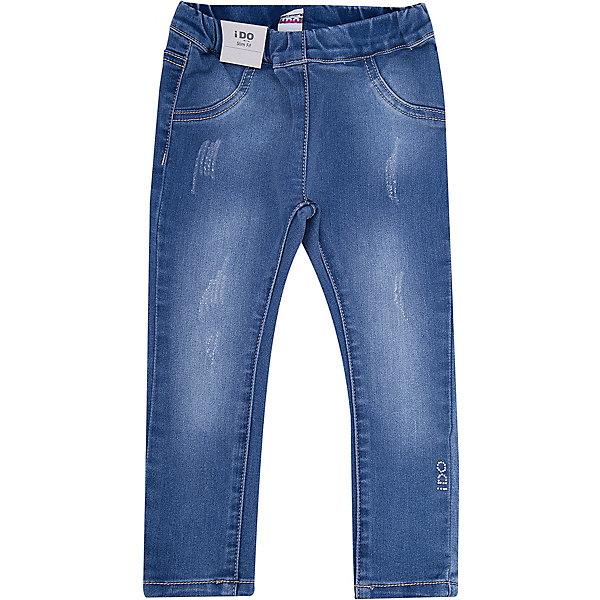 Джинсы iDO для девочкиДжинсы<br>Характеристики товара:<br><br>• цвет: синий<br>• состав ткани: 78% хлопок, 21% полиэстер, 1% синтетическое волокно<br>• сезон: круглый год<br>• пояс: резинка<br>• страна бренда: Италия<br><br>Эластичные детские джинсы отличаются эффектом потертости. Эти джинсы для ребенка разработаны итальянскими дизайнерами популярного бренда iDO, который выпускает модные и удобные вещи для детей. Джинсы для девочки выполнены преимущественно из дышащего натурального хлопка.<br><br>Джинсы iDO (АйДу) для девочки можно купить в нашем интернет-магазине.<br>Ширина мм: 215; Глубина мм: 88; Высота мм: 191; Вес г: 336; Цвет: синий; Возраст от месяцев: 18; Возраст до месяцев: 24; Пол: Женский; Возраст: Детский; Размер: 92,110,122,116,104,98; SKU: 7588540;