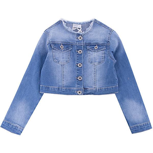Куртка iDO для девочкиВерхняя одежда<br>Характеристики товара:<br><br>• цвет: синий<br>• состав ткани: 97% хлопок, 3% синтетическое волокно<br>• утеплитель: нет<br>• сезон: демисезон<br>• застежка: кнопки<br>• длинные рукава<br>• страна бренда: Италия<br>• стиль и качество iDO<br><br>Укороченная детская джинсовая куртка сделана из качественного материала. Эта куртка для ребенка - от известного итальянского бренда iDO, который известен высоким качеством и европейским стилем выпускаемой одежды для детей. Куртка для девочки поможет создать удобный и модный наряд в прохладную погоду.<br><br>Куртку iDO (АйДу) для девочки можно купить в нашем интернет-магазине.<br>Ширина мм: 356; Глубина мм: 10; Высота мм: 245; Вес г: 519; Цвет: синий; Возраст от месяцев: 24; Возраст до месяцев: 36; Пол: Женский; Возраст: Детский; Размер: 98,122,116,110,92,104; SKU: 7588619;