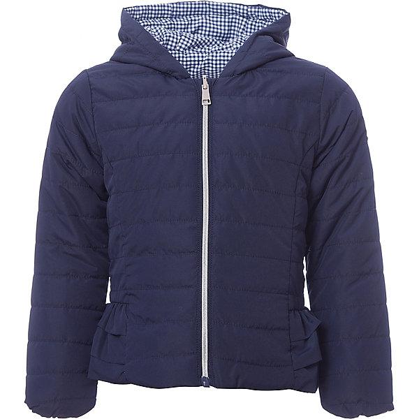 Куртка iDO для девочкиВерхняя одежда<br>Характеристики товара:<br><br>• цвет: синий<br>• состав ткани: 100% полиэстер<br>• подкладка: 100% полиэстер<br>• утеплитель: нет<br>• сезон: демисезон<br>• особенности модели: двусторонняя, с капюшоном<br>• застежка: молния<br>• страна бренда: Италия<br><br>Двусторонняя куртка для девочки сделана из практичного безопасного для детей материала. Такая детская куртка от известного бренда iDO из Италии поможет создать модный и удобный наряд. Куртка для детей отличается стильным кроем и высоким качеством пошива.<br><br>Куртку iDO (АйДу) для девочки можно купить в нашем интернет-магазине.<br>Ширина мм: 356; Глубина мм: 10; Высота мм: 245; Вес г: 519; Цвет: синий; Возраст от месяцев: 18; Возраст до месяцев: 24; Пол: Женский; Возраст: Детский; Размер: 92,122,116,110,104,98; SKU: 7588651;