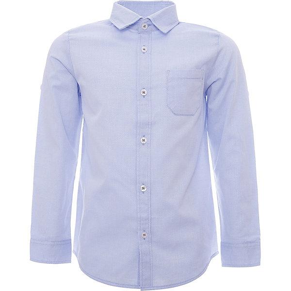 Рубашка iDO для мальчикаБлузки и рубашки<br>Характеристики товара:<br><br>• цвет: голубой<br>• состав ткани: 63% хлопок, 37% полиэстер<br>• сезон: круглый год<br>• особенности модели: нарядная<br>• застежка: пуговицы<br>• длинные рукава<br>• страна бренда: Италия<br>• стиль и качество iDO<br><br>Голубая детская рубашка отлично сочетается с брюками. Такая рубашка для ребенка разработана итальянскими дизайнерами популярного бренда iDO, который выпускает модные и удобные вещи для детей. Рубашка для мальчика сделана преимущественно из легкого дышащего натурального хлопка.<br><br>Рубашку iDO (АйДу) для мальчика можно купить в нашем интернет-магазине.<br>Ширина мм: 174; Глубина мм: 10; Высота мм: 169; Вес г: 157; Цвет: голубой; Возраст от месяцев: 84; Возраст до месяцев: 96; Пол: Мужской; Возраст: Детский; Размер: 128,170,164,152,140; SKU: 7588683;