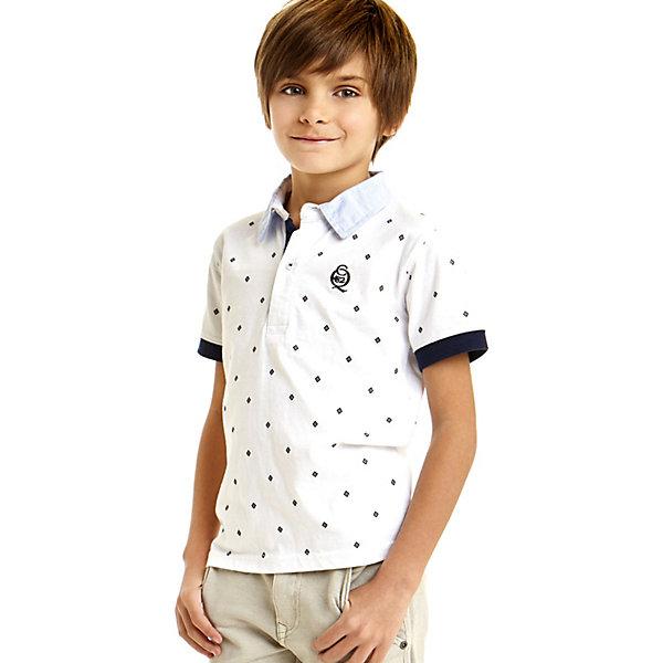 Футболка-поло iDO для мальчикаФутболки, поло и топы<br>Характеристики товара:<br><br>• цвет: белый<br>• состав ткани: 100% хлопок<br>• сезон: лето<br>• застежка: пуговицы<br>• короткие рукава<br>• страна бренда: Италия<br>• стиль и качество iDO<br><br>Легкая детская футболка-поло отличается оригинальной контрастной отделкой. Эта футболка-поло для ребенка - от известного итальянского бренда iDO, который известен высоким качеством и европейским стилем выпускаемой одежды для детей. Футболка-поло для мальчика поможет создать удобный и модный наряд.<br><br>Футболку-поло iDO (АйДу) для мальчика можно купить в нашем интернет-магазине.<br>Ширина мм: 199; Глубина мм: 10; Высота мм: 161; Вес г: 151; Цвет: белый; Возраст от месяцев: 84; Возраст до месяцев: 96; Пол: Мужской; Возраст: Детский; Размер: 128,170,164,152,140; SKU: 7588712;