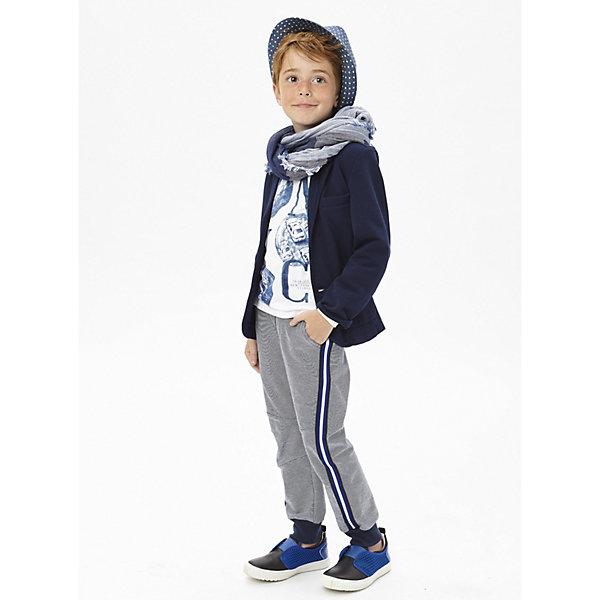 Брюки iDO для мальчикаБрюки<br>Брюки iDO для мальчика<br>Спортивные трикотажные брюки на манжетах с контрастными лампасами.<br><br>Состав: <br>95% хлопок 5% др.вол.<br>Ширина мм: 215; Глубина мм: 88; Высота мм: 191; Вес г: 336; Цвет: темно-синий; Возраст от месяцев: 84; Возраст до месяцев: 96; Пол: Мужской; Возраст: Детский; Размер: 128,170,164,152,140; SKU: 7589017;