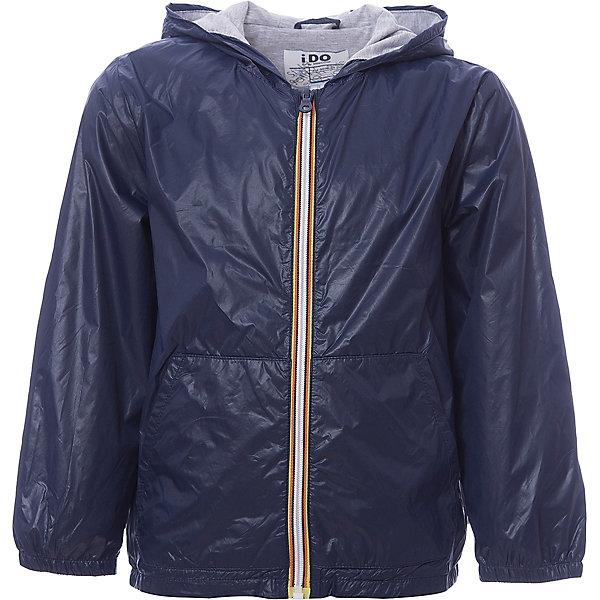Куртка iDO для мальчикаВерхняя одежда<br>Характеристики товара:<br><br>• цвет: синий<br>• состав ткани: 100% полиэстер<br>• подкладка: 100% полиэстер<br>• утеплитель: нет<br>• сезон: демисезон<br>• особенности модели: с капюшоном<br>• застежка: молния<br>• страна бренда: Италия<br><br>Ветровка для мальчика сделана из практичного безопасного для детей материала. Такая детская куртка от известного бренда iDO из Италии поможет создать модный и удобный наряд. Куртка для детей отличается стильным кроем и высоким качеством пошива.<br><br>Куртку iDO (АйДу) для мальчика можно купить в нашем интернет-магазине.<br>Ширина мм: 356; Глубина мм: 10; Высота мм: 245; Вес г: 519; Цвет: темно-синий; Возраст от месяцев: 84; Возраст до месяцев: 96; Пол: Мужской; Возраст: Детский; Размер: 164,152,140,128,170; SKU: 7589090;