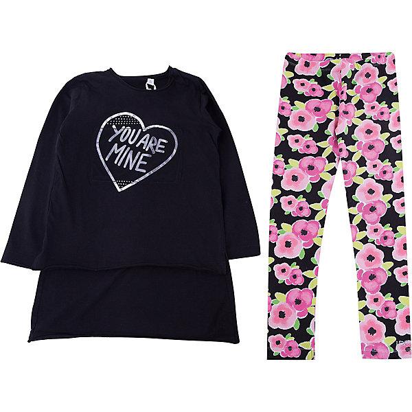 Комплект: футболка с длинным рукавом, леггинсы iDO для девочкиКомплекты<br>Характеристики товара:<br><br>• цвет: черный<br>• комплектация: лонгслив, леггинсы<br>• состав ткани: 100% хлопок<br>• сезон: круглый год<br>• пояс: резинка<br>• длинные рукава<br>• страна бренда: Италия<br>• стиль и качество iDO<br><br>Стильный детский комплект состоит из удлиненного лонгслива и леггинсов. Этот комплект для ребенка разработан итальянскими дизайнерами популярного бренда iDO, который выпускает модные и удобные вещи для детей. Комплект для девочки сделан преимущественно из мягкого дышащего натурального хлопка.<br><br>Комплект: лонгслив, леггинсы iDO (АйДу) для девочки можно купить в нашем интернет-магазине.<br>Ширина мм: 230; Глубина мм: 40; Высота мм: 220; Вес г: 250; Цвет: черный; Возраст от месяцев: 168; Возраст до месяцев: 180; Пол: Женский; Возраст: Детский; Размер: 170,164,152,140,128; SKU: 7589149;