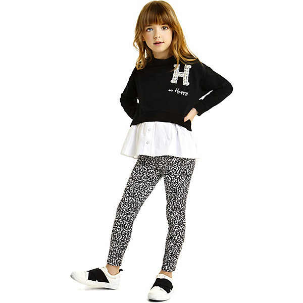 Комплект: футболка с длинным рукавом, леггинсы iDO для девочкиКомплекты<br>Характеристики товара:<br><br>• цвет: черный<br>• комплектация: лонгслив, леггинсы<br>• состав ткани: 100% хлопок<br>• сезон: демисезон<br>• пояс: резинка<br>• длинные рукава<br>• страна бренда: Италия<br><br>Стильный комплект для девочки сшит из мягкого натурального хлопкового материала, который отлично подходит детям. Такой детский комплект от известного бренда iDO из Италии обеспечит ребенку комфорт. Такой стильный комплект для ребенка - это лонгслив и леггинсы. <br><br>Комплект: лонгслив, леггинсы iDO (АйДу) для девочки можно купить в нашем интернет-магазине.<br>Ширина мм: 230; Глубина мм: 40; Высота мм: 220; Вес г: 250; Цвет: черный; Возраст от месяцев: 84; Возраст до месяцев: 96; Пол: Женский; Возраст: Детский; Размер: 128,170,164,152,140; SKU: 7589161;