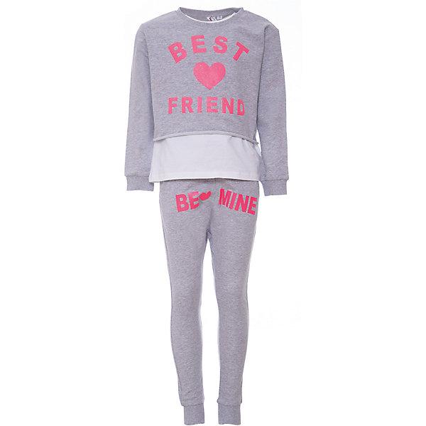 Комплект: футболка с длинным рукавом, леггинсы iDO для девочкиКомплекты<br>Характеристики товара:<br><br>• цвет: серый<br>• комплектация: толстовка, футболка, леггинсы<br>• состав ткани: 100% хлопок<br>• сезон: круглый год<br>• особенности модели: спортивный стиль<br>• пояс: резинка<br>• страна бренда: Италия<br>• стиль и качество iDO<br><br>Комплект для девочки сшит из мягкого натурального хлопкового материала, который отлично подходит для детей. Такой детский комплект от известного бренда iDO из Италии обеспечит ребенку комфорт. Хлопковый стильный комплект для ребенка - это укороченная толстовка, футболка и леггинсы. <br><br>Комплект: толстовка, футболка, леггинсы iDO (АйДу) для девочки можно купить в нашем интернет-магазине.<br>Ширина мм: 230; Глубина мм: 40; Высота мм: 220; Вес г: 250; Цвет: серый; Возраст от месяцев: 108; Возраст до месяцев: 120; Пол: Женский; Возраст: Детский; Размер: 140,128,170,164,152; SKU: 7589174;
