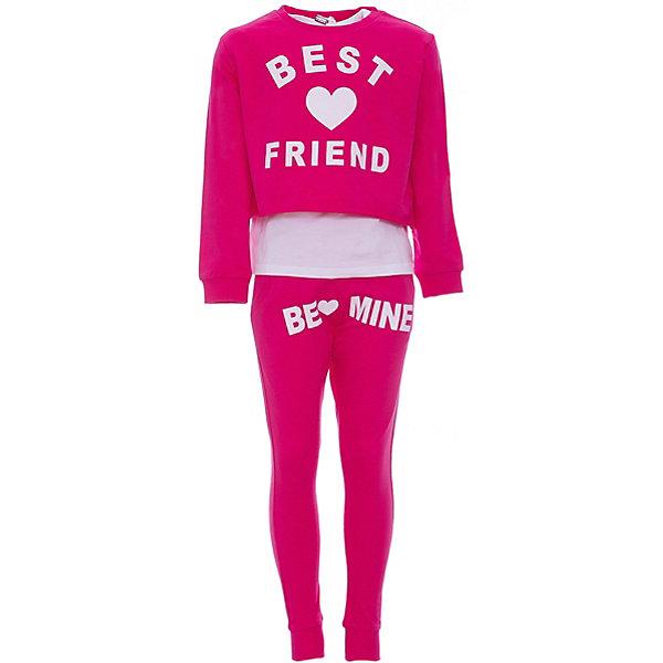 Комплект: футболка с длинным рукавом, леггинсы iDO для девочкиКомплекты<br>Характеристики товара:<br><br>• цвет: розовый<br>• комплектация: толстовка, футболка, леггинсы<br>• состав ткани: 100% хлопок<br>• сезон: круглый год<br>• особенности модели: спортивный стиль<br>• пояс: резинка<br>• страна бренда: Италия<br>• стиль и качество iDO<br><br>Яркий детский комплект из трех вещей от известного бренда iDO из Италии обеспечит ребенку стильный внешний вид и удобство. Хлопковый стильный комплект для ребенка - это укороченная толстовка, футболка и леггинсы. Комплект для девочки сшит из мягкого натурального хлопкового материала, который отлично подходит для детей. <br><br>Комплект: толстовка, футболка, леггинсы iDO (АйДу) для девочки можно купить в нашем интернет-магазине.<br>Ширина мм: 230; Глубина мм: 40; Высота мм: 220; Вес г: 250; Цвет: розовый; Возраст от месяцев: 84; Возраст до месяцев: 96; Пол: Женский; Возраст: Детский; Размер: 128,170,164,152,140; SKU: 7589177;
