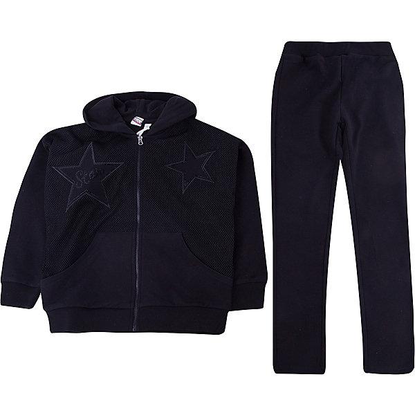 Спортивный костюм iDO для девочкиСпортивная одежда<br>Характеристики товара:<br><br>• цвет: черный<br>• комплектация: толстовка, брюки<br>• состав ткани: 95% хлопок, 5% синтетическое волокно<br>• сезон: круглый год<br>• особенности модели: спортивный стиль, с капюшоном<br>• застежка: молния<br>• пояс: резинка<br>• длинные рукава<br>• страна бренда: Италия<br>• стиль и качество iDO<br><br>Удобный детский спортивный костюм состоит из толстовки и брюк. Этот спортивный костюм для ребенка разработан итальянскими дизайнерами популярного бренда iDO, который выпускает модные и удобные вещи для детей. Спортивный костюм для девочки сделан из мягкого дышащего натурального хлопка.<br><br>Спортивный костюм iDO (АйДу) для девочки можно купить в нашем интернет-магазине.<br>Ширина мм: 247; Глубина мм: 16; Высота мм: 140; Вес г: 225; Цвет: черный; Возраст от месяцев: 168; Возраст до месяцев: 180; Пол: Женский; Возраст: Детский; Размер: 170,152,128,140,164; SKU: 7589201;