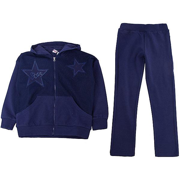 Спортивный костюм iDO для девочкиСпортивная одежда<br>Характеристики товара:<br><br>• цвет: синий<br>• комплектация: толстовка, брюки<br>• состав ткани: 95% хлопок, 5% синтетическое волокно<br>• сезон: круглый год<br>• особенности модели: спортивный стиль, с капюшоном<br>• застежка: молния<br>• пояс: резинка<br>• длинные рукава<br>• страна бренда: Италия<br>• стиль и качество iDO<br><br>Синий детский спортивный костюм от известного бренда iDO из Италии обеспечит ребенку комфорт. Спортивный костюм для ребенка - это толстовка и брюки. Спортивный костюм для девочки сшит из мягкого натурального хлопкового материала, который отлично подходит для детей.<br><br>Спортивный костюм iDO (АйДу) для девочки можно купить в нашем интернет-магазине.<br>Ширина мм: 247; Глубина мм: 16; Высота мм: 140; Вес г: 225; Цвет: синий; Возраст от месяцев: 84; Возраст до месяцев: 96; Пол: Женский; Возраст: Детский; Размер: 128,170,164,152,140; SKU: 7589207;