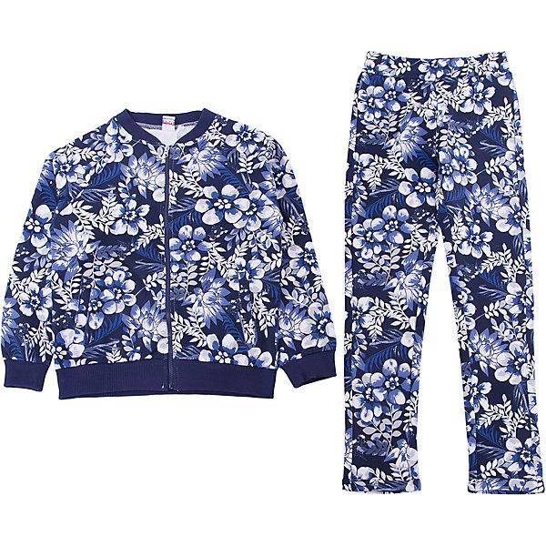 Спортивный костюм iDO для девочкиСпортивная одежда<br>Спортивный костюм iDO для девочки<br>Спортивный костюм на тонком флисе с цветочным принтом. <br><br>Состав: <br>95% хлопок 5% др.вол.<br>Ширина мм: 247; Глубина мм: 16; Высота мм: 140; Вес г: 225; Цвет: голубой; Возраст от месяцев: 84; Возраст до месяцев: 96; Пол: Женский; Возраст: Детский; Размер: 164,152,140,170,128; SKU: 7589225;