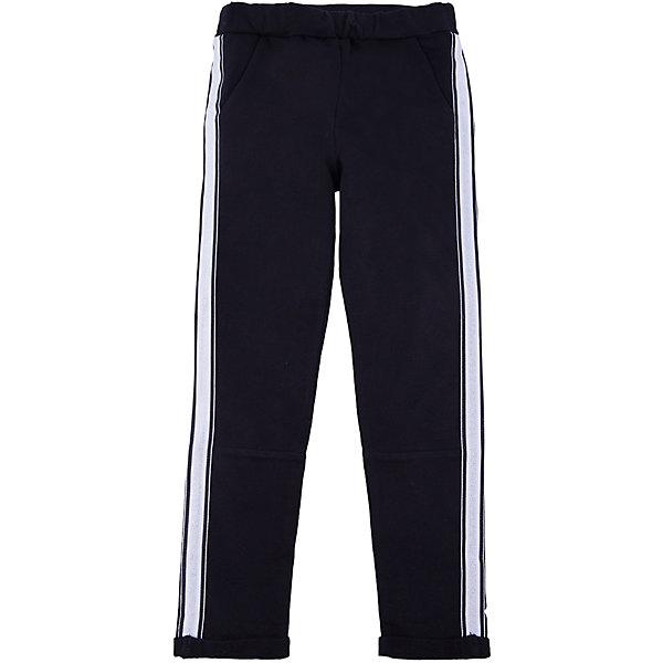 Брюки iDO для девочкиБрюки<br>Характеристики товара:<br><br>• цвет: черный<br>• состав ткани: 95% хлопок, 5% синтетическое волокно<br>• сезон: круглый год<br>• особенности модели: спортивный стиль<br>• пояс: резинка<br>• страна бренда: Италия<br>• стиль и качество iDO<br><br>Спортивные детские брюки отличаются контрастными лампасами и мягкой резинкой на талии. Эти брюки для ребенка разработаны итальянскими дизайнерами популярного бренда iDO, который выпускает модные и удобные вещи для детей. Брюки для девочки сделаны из дышащего натурального хлопка.<br><br>Брюки iDO (АйДу) для девочки можно купить в нашем интернет-магазине.<br>Ширина мм: 215; Глубина мм: 88; Высота мм: 191; Вес г: 336; Цвет: черный; Возраст от месяцев: 84; Возраст до месяцев: 96; Пол: Женский; Возраст: Детский; Размер: 128,170,164,152,140; SKU: 7589370;