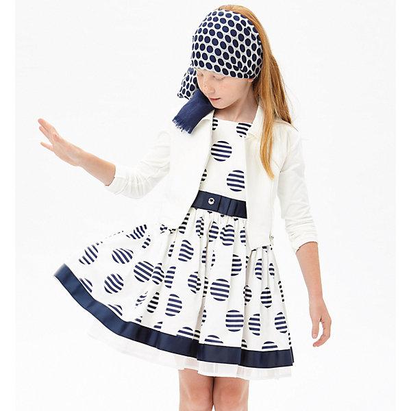 Платье iDO для девочкиОдежда<br>Характеристики товара:<br><br>• цвет: бежевый<br>• состав ткани верха: 100% хлопок<br>• сезон: лето<br>• застежка: молния<br>• без рукавов<br>• страна бренда: Италия<br>• стиль и качество iDO<br><br>Такое детское платье длиной до колена имеет сзади удобную молнию. Это платье для ребенка разработано итальянскими дизайнерами популярного бренда iDO, который выпускает модные и удобные вещи для детей. Платье для девочки сделано из мягкого дышащего натурального хлопка.<br><br>Платье iDO (АйДу) для девочки можно купить в нашем интернет-магазине.<br>Ширина мм: 236; Глубина мм: 16; Высота мм: 184; Вес г: 177; Цвет: бежевый; Возраст от месяцев: 84; Возраст до месяцев: 96; Пол: Женский; Возраст: Детский; Размер: 128,116,152,140; SKU: 7589485;