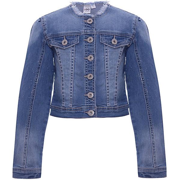 Куртка джинсовая iDO для девочкиДжинсовая одежда<br>Характеристики товара:<br><br>• цвет: синий<br>• состав ткани: 100% хлопок<br>• сезон: демисезон<br>• особенности модели: с капюшоном<br>• застежка: молния<br>• страна бренда: Италия<br><br>Черная джинсовая куртка для девочки сделана из практичного безопасного для детей материала. Такая детская куртка от известного бренда iDO из Италии поможет создать модный и удобный наряд. Куртка для детей отличается стильным кроем с отложным воротником и высоким качеством пошива.<br><br>Куртку iDO (АйДу) для девочки можно купить в нашем интернет-магазине.<br>Ширина мм: 356; Глубина мм: 10; Высота мм: 245; Вес г: 519; Цвет: синий; Возраст от месяцев: 84; Возраст до месяцев: 96; Пол: Женский; Возраст: Детский; Размер: 128,170,164,152,140; SKU: 7589526;