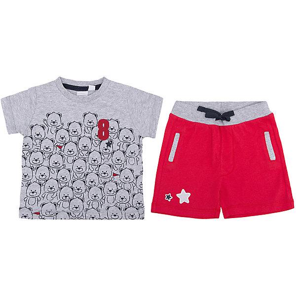 Комплект: футболка, шорты iDO для мальчикаКомплекты<br>Характеристики товара:<br><br>• цвет: красный<br>• комплектация: футболка, шорты<br>• состав ткани: 95% хлопок, 5% синтетическое волокно<br>• сезон: лето<br>• застежка: кнопки<br>• короткие рукава<br>• пояс: резинка<br>• страна бренда: Италия<br><br>Комфортный комплект для мальчика сшит из мягкого натурального хлопкового материала, который отлично подходит детям. Такой детский комплект от известного бренда iDO из Италии обеспечит ребенку комфорт. Такой стильный комплект для ребенка - это футболка и шорты. <br><br>Комплект: футболка, шорты iDO (АйДу) для мальчика можно купить в нашем интернет-магазине.<br>Ширина мм: 199; Глубина мм: 10; Высота мм: 161; Вес г: 151; Цвет: красный; Возраст от месяцев: 3; Возраст до месяцев: 6; Пол: Мужской; Возраст: Детский; Размер: 68,86,80,74; SKU: 7589604;