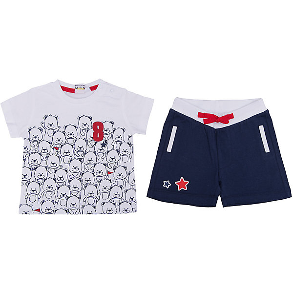 Комплект: футболка, шорты iDO для мальчикаКомплекты<br>Характеристики товара:<br><br>• цвет: голубой<br>• комплектация: футболка, шорты<br>• состав ткани: 95% хлопок, 5% синтетическое волокно<br>• сезон: лето<br>• застежка: кнопки<br>• короткие рукава<br>• пояс: резинка<br>• страна бренда: Италия<br><br>Комфортный комплект для мальчика сшит из мягкого натурального хлопкового материала, который отлично подходит детям. Такой детский комплект от известного бренда iDO из Италии обеспечит ребенку комфорт. Такой стильный комплект для ребенка - это футболка и шорты. <br><br>Комплект: футболка, шорты iDO (АйДу) для мальчика можно купить в нашем интернет-магазине.<br>Ширина мм: 199; Глубина мм: 10; Высота мм: 161; Вес г: 151; Цвет: голубой; Возраст от месяцев: 3; Возраст до месяцев: 6; Пол: Мужской; Возраст: Детский; Размер: 68,86,80,74; SKU: 7589609;