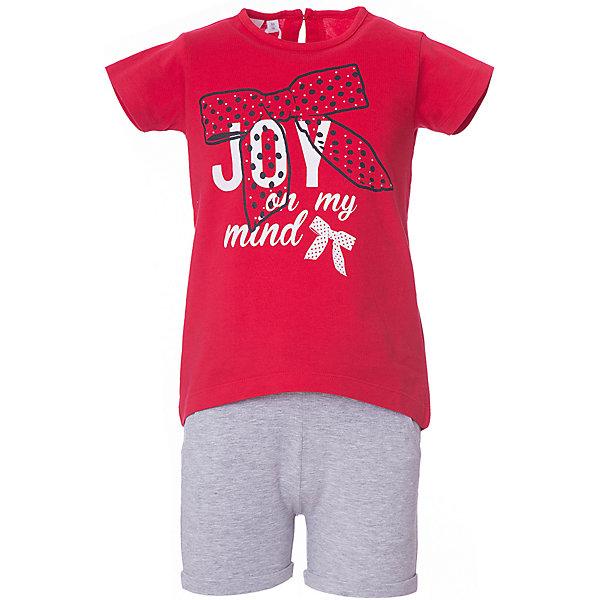 Комплект: футболка, шорты iDO для девочкиКомплекты<br>Комплект: футболка, шорты iDO для девочки<br>Ширина мм: 199; Глубина мм: 10; Высота мм: 161; Вес г: 151; Цвет: красный; Возраст от месяцев: 24; Возраст до месяцев: 36; Пол: Женский; Возраст: Детский; Размер: 98,122,116,110,104; SKU: 7590267;