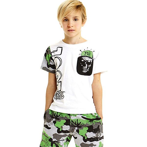 Купить Комплект: футболка, шорты iDO для мальчика, Китай, белый, 128, 170, 164, 152, 140, Мужской
