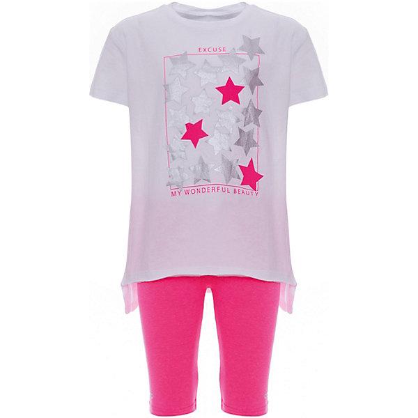 Комплект: футболка, шорты iDO для девочкиКомплекты<br>Характеристики товара:<br><br>• цвет: белый<br>• комплектация: футболка, шорты<br>• состав ткани: 95% хлопок, 5% синтетическое волокно<br>• сезон: лето<br>• особенности модели: спортивный стиль<br>• короткие рукава<br>• пояс: резинка<br>• страна бренда: Италия<br><br>Стильный комплект для девочки сшит из мягкого натурального хлопкового материала, который отлично подходит детям. Такой детский комплект от известного бренда iDO из Италии обеспечит ребенку комфорт. Такой комплект для ребенка - это футболка и шорты. <br><br>Комплект: футболка, шорты iDO (АйДу) для девочки можно купить в нашем интернет-магазине.<br>Ширина мм: 199; Глубина мм: 10; Высота мм: 161; Вес г: 151; Цвет: белый; Возраст от месяцев: 84; Возраст до месяцев: 96; Пол: Женский; Возраст: Детский; Размер: 128,164,152,140; SKU: 7590683;