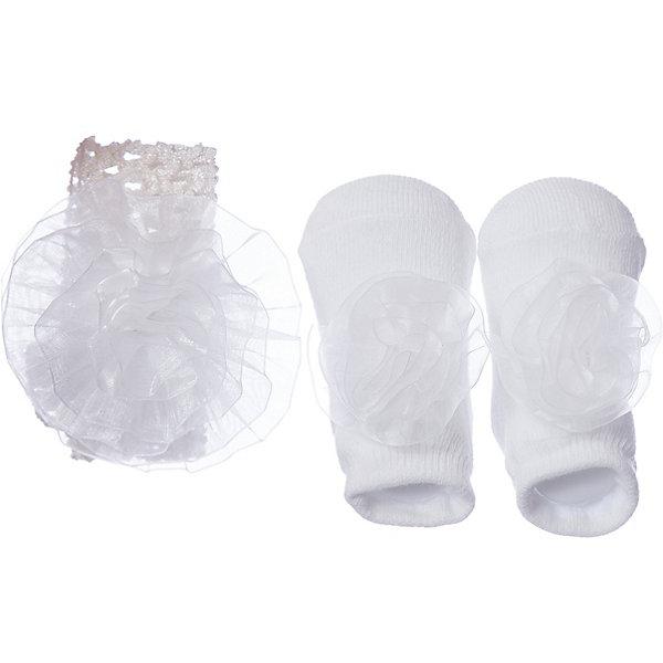 Комплект: пинетки, повязка iDO для девочкиКомплекты<br>Комплект: пинетки, повязка iDO для девочки<br>Комплект для новорожденных состоит из пинеток и повязки на голову. <br>Состав:<br>76% хлопок 22%полиэстер  2% др. вол. - 95%полиэстер  5% др. вол.<br>Ширина мм: 157; Глубина мм: 13; Высота мм: 119; Вес г: 200; Цвет: бежевый; Возраст от месяцев: 0; Возраст до месяцев: 12; Пол: Женский; Возраст: Детский; Размер: one size; SKU: 7590752;