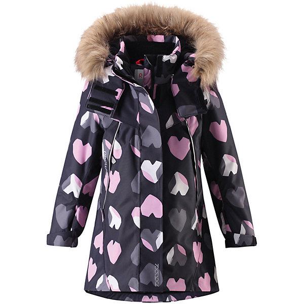 Куртка Muhvi для девочкиОдежда<br>Характеристики товара:<br><br>• цвет: серый;<br>• состав: 100% полиэстер;<br>• подкладка: 100% полиэстер;<br>• утеплитель: 160 г/м2<br>• температурный режим: от 0 до -20С;<br>• сезон: зима; <br>• водонепроницаемость: 15000 мм;<br>• воздухопроницаемость: 7000 мм;<br>• износостойкость: 30000 циклов (тест Мартиндейла);<br>• водо- и ветронепроницаемый, дышащий и грязеотталкивающий материал;<br>• все швы проклеены и водонепроницаемы;<br>• гладкая подкладка из полиэстера;<br>• эластичные манжеты;<br>• застежка: молния с защитой подбородка;<br>• безопасный съемный и регулируемый капюшон на кнопках;<br>• съемный искусственный мех на капюшоне;<br>• регулируемые манжеты и подол;<br>• два кармана на кнопках;<br>• внутренний нагрудный карман;<br>• карман с креплением для сенсора ReimaGO®;<br>• светоотражающие детали;<br>• страна бренда: Финляндия;<br>• страна изготовитель: Китай.<br><br>Теплая, водо и ветронепроницаемая детская зимняя куртка Reimatec®. Материал отталкивает грязь и хорошо дышит, так что ваш ребенок не вспотеет. Все швы проклеены, водонепроницаемы. Эта объемная модель отлично сидит благодаря сборке сзади на талии, а также регулируемым манжетам и подолу. Эта куртка с подкладкой из гладкого полиэстера легко надевается. С помощью удобной системы кнопок Play Layers® к куртке можно присоединять разнообразную одежду промежуточного слоя Reima®.<br><br>В куртке предусмотрен съемный капюшон, отороченный съемной отделкой из искусственного меха, и множество светоотражающих деталей. В карманах на молнии можно хранить все самое важное, например, смартфон можно положить в нагрудный карман или в два передних кармана на молнии. А для сенсора ReimaGO имеется специальный карман с кнопками. Эта куртка очень проста в уходе, ведь ее можно сушить в стиральной машине.<br><br>Куртку Muhvi для девочки Reimatec® Reima от финского бренда Reima (Рейма) можно купить в нашем интернет-магазине<br>Ширина мм: 356; Глубина мм: 10; Высота мм: 245; Вес г: 519; Цвет