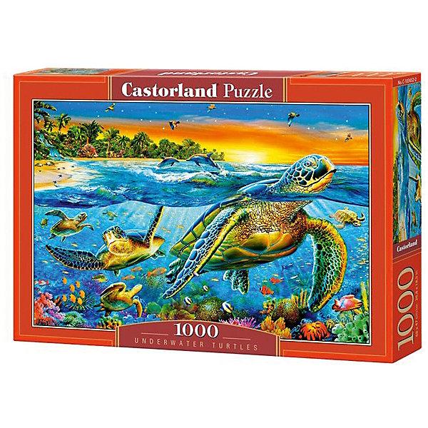 Пазл Castorland Подводные черепахи 1000 деталейПазлы классические<br>Характеристики товара:<br><br>• возраст: от 9 лет;<br>• количество деталей: 1000 шт;<br>• материал: картон;<br>• размер упаковки: 35х25х5,2 см;<br>• размер картины: 68х47 см;<br>• вес упаковки: 500 гр.;<br>• страна производитель: Польша.<br><br>Пазл Castorland (Касторлэнд) Подводные черепахи – это отличный способ увлекательно провести досуг, снять стресс и развить моторику.<br><br>Качество этих пазлов подтверждено миллионами любителей сборки пазлов. Пазлы Castorland собираются легко. Каждая деталь имеет индивидуальную форму и легко соединяется с другой, поэтому у Вас обязательно получится ожидаемый результат - картина собранная собственными руками.<br><br>Пазл Castorland (Касторлэнд) Подводные черепахи можно купить в нашем интернет-магазине.<br>Ширина мм: 350; Глубина мм: 250; Высота мм: 50; Вес г: 500; Возраст от месяцев: 168; Возраст до месяцев: 2147483647; Пол: Унисекс; Возраст: Детский; SKU: 7590942;
