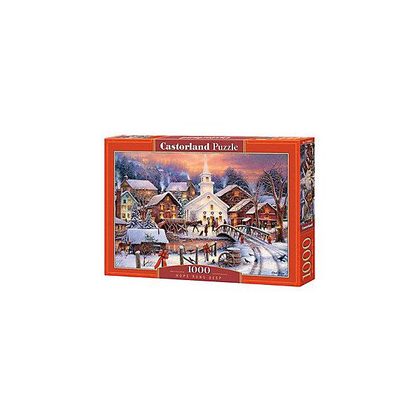 Пазл Castorland Зимний город 1000 деталейПазлы классические<br>Характеристики товара:<br><br>• возраст: от 9 лет;<br>• количество деталей: 1000 шт;<br>• материал: картон;<br>• размер упаковки: 35х25х5,2 см;<br>• размер картины: 68х47 см;<br>• вес упаковки: 500 гр.;<br>• страна производитель: Польша.<br><br>Пазл Castorland (Касторлэнд) Зимний город – это отличный способ увлекательно провести досуг, снять стресс и развить моторику.<br><br>Качество этих пазлов подтверждено миллионами любителей сборки пазлов. Пазлы Castorland собираются легко. Каждая деталь имеет индивидуальную форму и легко соединяется с другой, поэтому у Вас обязательно получится ожидаемый результат - картина собранная собственными руками.<br><br>Пазл Castorland (Касторлэнд) Зимний город можно купить в нашем интернет-магазине.<br>Ширина мм: 350; Глубина мм: 250; Высота мм: 50; Вес г: 500; Возраст от месяцев: 168; Возраст до месяцев: 2147483647; Пол: Унисекс; Возраст: Детский; SKU: 7590952;